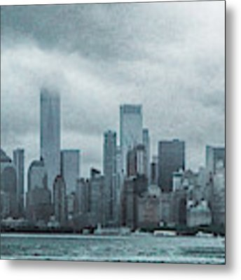 Lower Manhattan Panorama Metal Print by Judy Hall-Folde