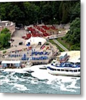 Maid Of The Mist Tour Boat At Niagara Falls Metal Print by Rose Santuci-Sofranko