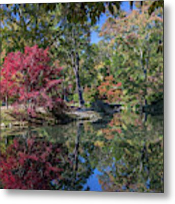 Maymont Japanese Garden Pond Metal Print by Jemmy Archer