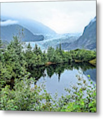 Mendenhall Glacier 1 Metal Print by Dawn Richards