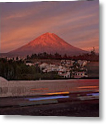 Misti Volcano In Arequipa, Peru, South America Metal Print by Sam Antonio Photography