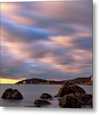 Morning Glow, Stage Fort Park. Gloucester Ma. Metal Print by Michael Hubley