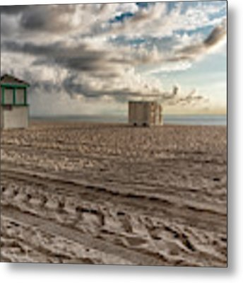 Morning In Miami Metal Print by Alison Frank