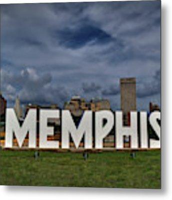 Mud Island Memphis Monument 001 Metal Print by Lance Vaughn
