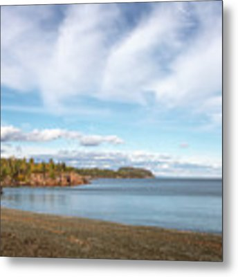 North Shore Black Beach Metal Print by Susan Rissi Tregoning