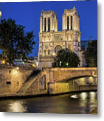 Notre Dame Cathedral Evening Metal Print by Jemmy Archer