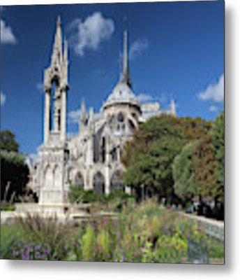 Notre Dame Garden Metal Print by Jemmy Archer