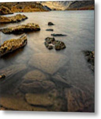 Ogwen Lake Snowdonia Metal Print by Adrian Evans
