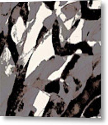 Organic 2 Abstract Metal Print by Menega Sabidussi