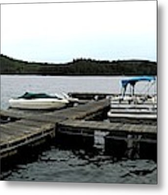 Panorama Of Schroon Lake In The Adirondack Mountains In New York Metal Print by Rose Santuci-Sofranko