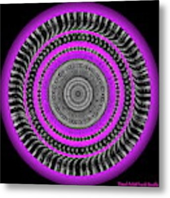 Pink Eye Metal Print by Visual Artist Frank Bonilla