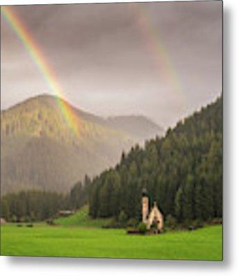 Rainbow Over St  Johann Metal Print by James Billings