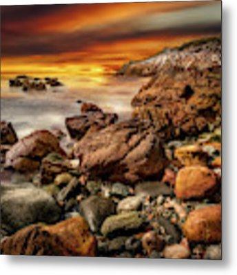 Rhoscolyn Coastline Sunset  Metal Print by Adrian Evans