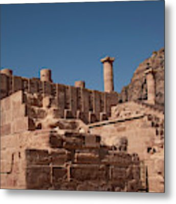 Roman Temple In Petra Metal Print by Mae Wertz