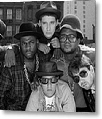 Run-dmc & Beastie Boys Metal Print by New York Daily News Archive