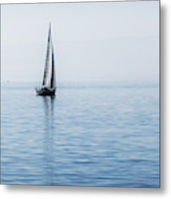Sailing Into The Mists Metal Print by Jeremy Hayden