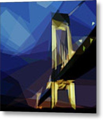 San Francisco Bridge Metal Print by ISAW Company
