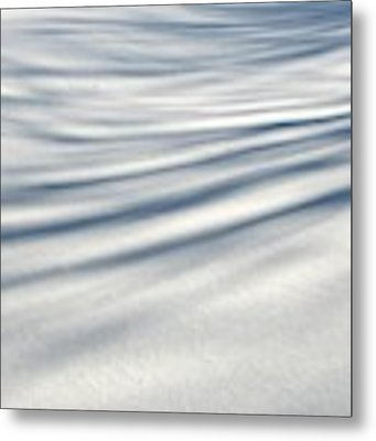 Shadows In The Snow Abstract By Artist4god Metal Print by Rose Santuci-Sofranko