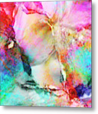 Somebody's Smiling - Custom Version 3 - Abstract Art Metal Print by Jaison Cianelli