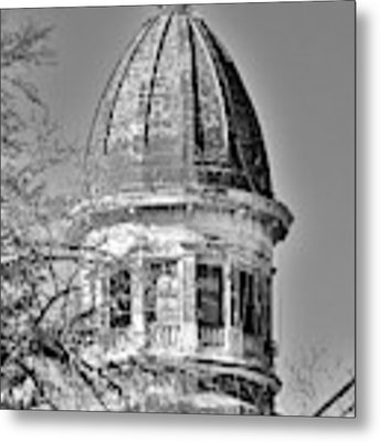 South Carolina State Hospital Dome Black And White 3 Metal Print by Lisa Wooten