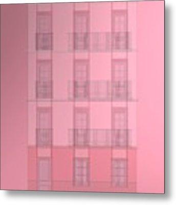 Spanish Architecture Over Violet Background. Metal Print by Alberto RuiZ