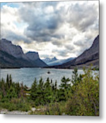 St Mary's Lake And Wild Goose Island Metal Print by Belinda Greb