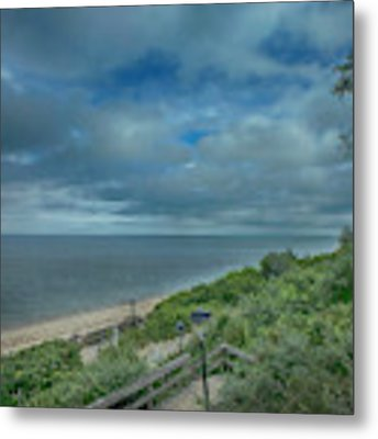 Stairs To The Beach Metal Print by Judy Hall-Folde