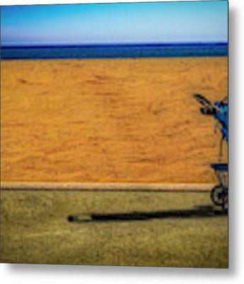 Stroller At The Beach Metal Print by Paul Wear