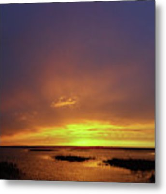 Sunset At Cheyenne Bottoms -02 Metal Print by Rob Graham