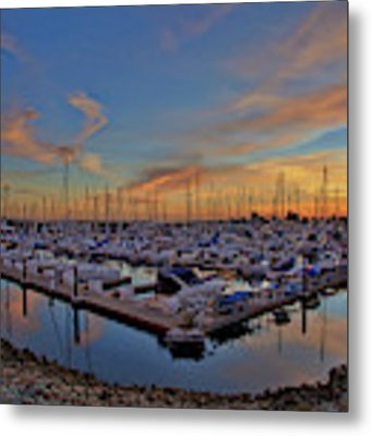 Sunset At Pier 32 Marina In National City, California Metal Print by Sam Antonio Photography
