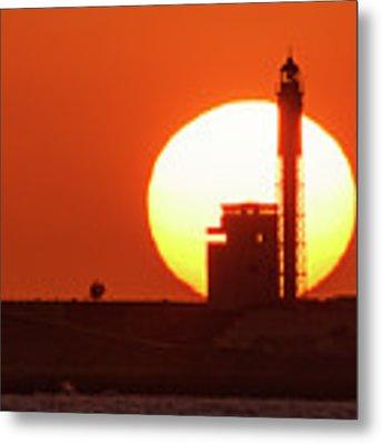 Sunset At Saint Sebastian Lighthouse Metal Print by Pablo Avanzini