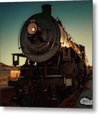 Sunset Steam Train 539 Metal Print by William Havle