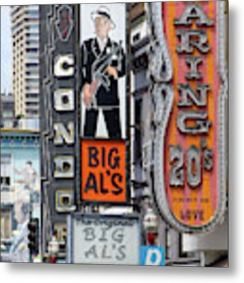 The Condor The Original Big Als And Roaring 20s Adult Strip Clubs On Broadway San Francisco R466 Metal Print by Wingsdomain Art and Photography