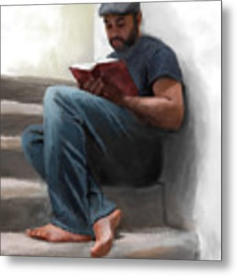 The Good Book Metal Print by Dwayne Glapion