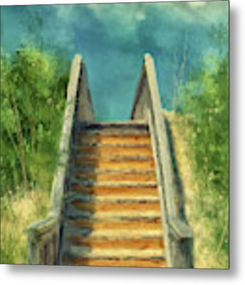 The Sandy Steps Over The Dunes Metal Print by Lois Bryan