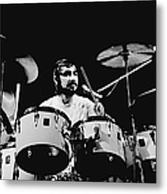 The Who Drummer Performing Metal Print by Larry Hulst