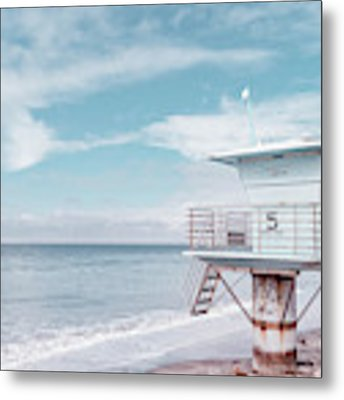 Torrey Pines Beach Lightguard Station Number 5 Metal Print by Wendy Fielding