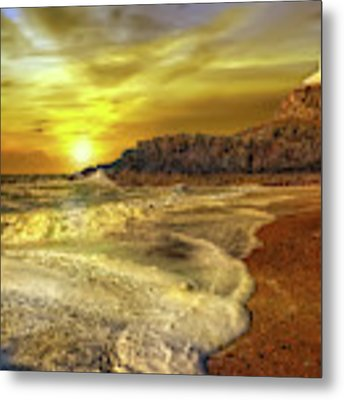 Twr Mawr Lighthouse Sunset Metal Print by Adrian Evans