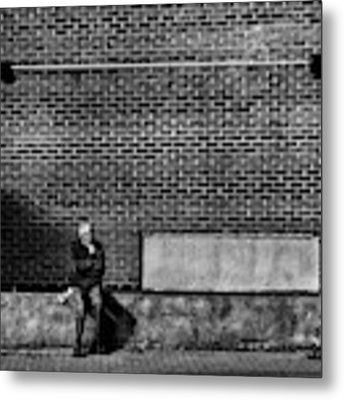 Waiting For A Streetcar Metal Print by Brian Carson