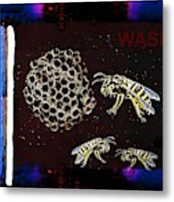 Wasps Metal Print by Hartmut Jager