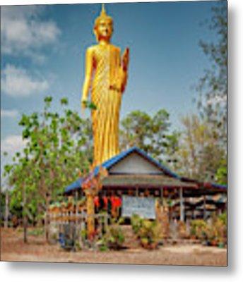 Wat Kham Chanot Golden Buddha Metal Print by Adrian Evans