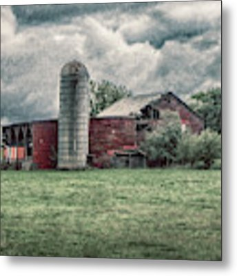 Weathered Worn And Standing Strong Metal Print by Judy Hall-Folde