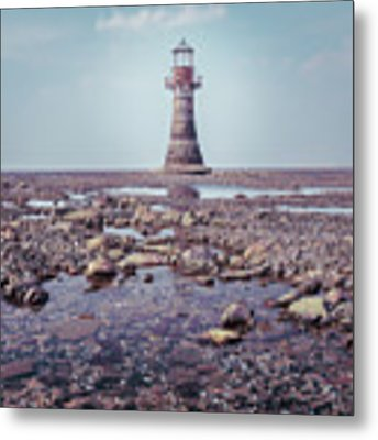 Whiteford Point Lighthouse Metal Print by Elliott Coleman