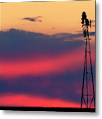 Windmill At Sunset 07 Metal Print by Rob Graham