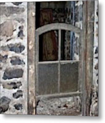 Window Below Metal Print by Ann E Robson