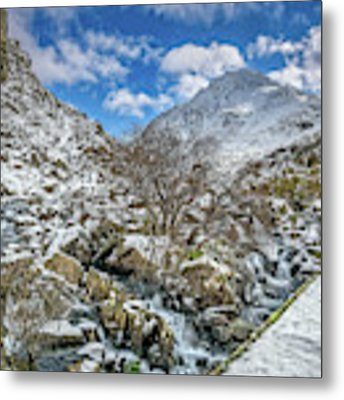 Winter Wonderland Snowdonia Metal Print by Adrian Evans