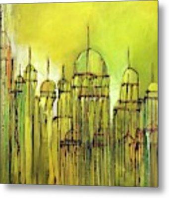 Yellow Mosque  Metal Print by Nizar MacNojia