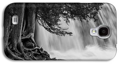 Rooted In Spring Cedar Trees Roots Spring Melt Gooseberry Falls Waterfall Galaxy S4 Cases