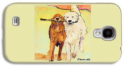 Dog Running Galaxy S4 Cases