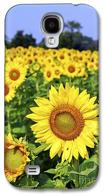 Sunflower Field Galaxy S4 Cases